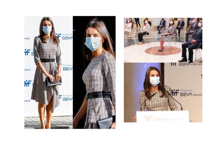 Letizia Ortiz ricicla l'abito asimettrico firmato Pedro del Hierro