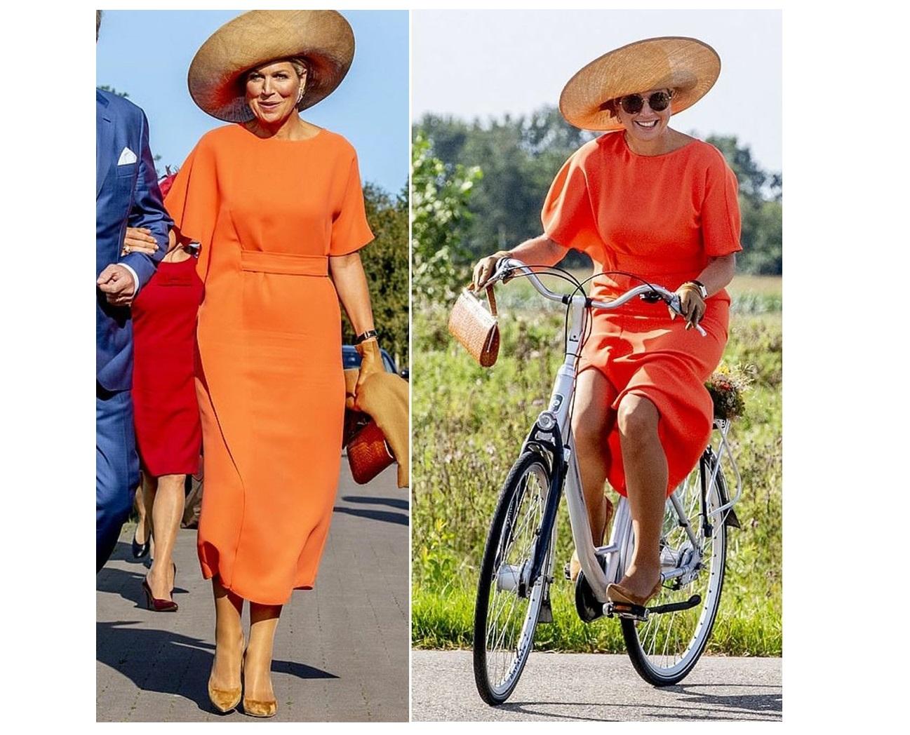 Maxima d'Olanda in bicicletta