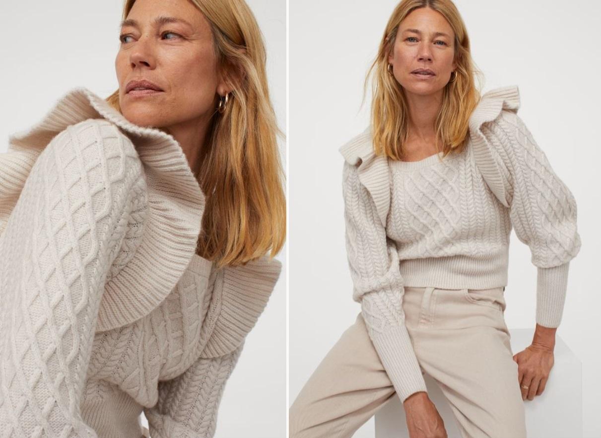 pullover H&m a trecce