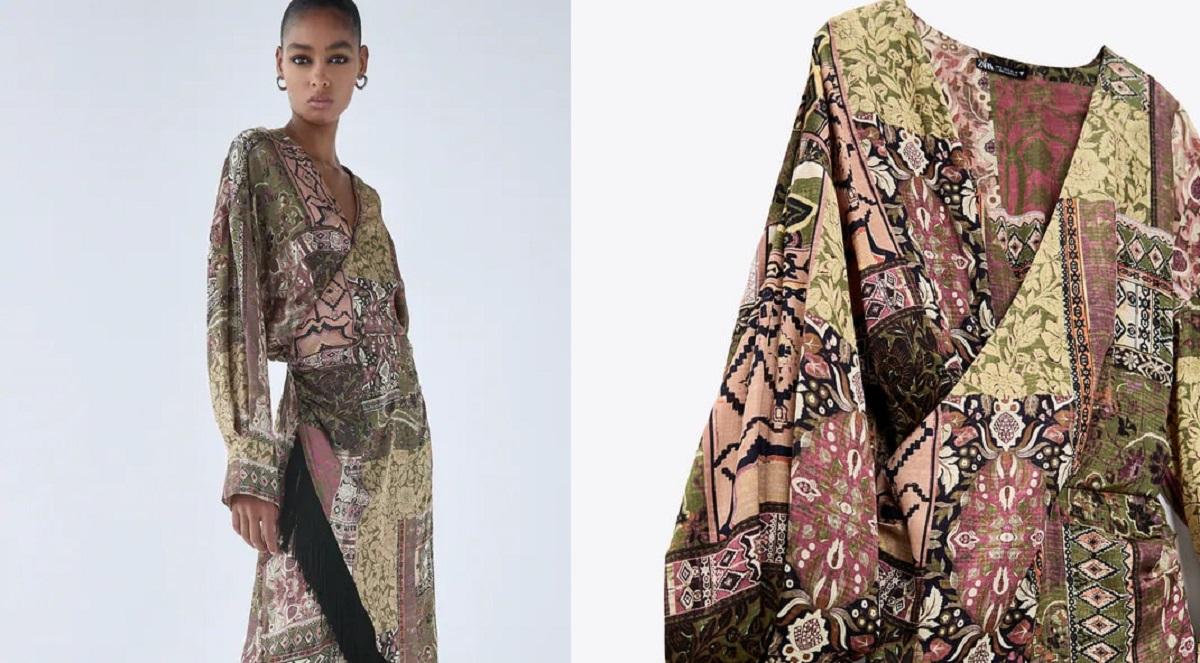 vestito Zara con stampa bohemien