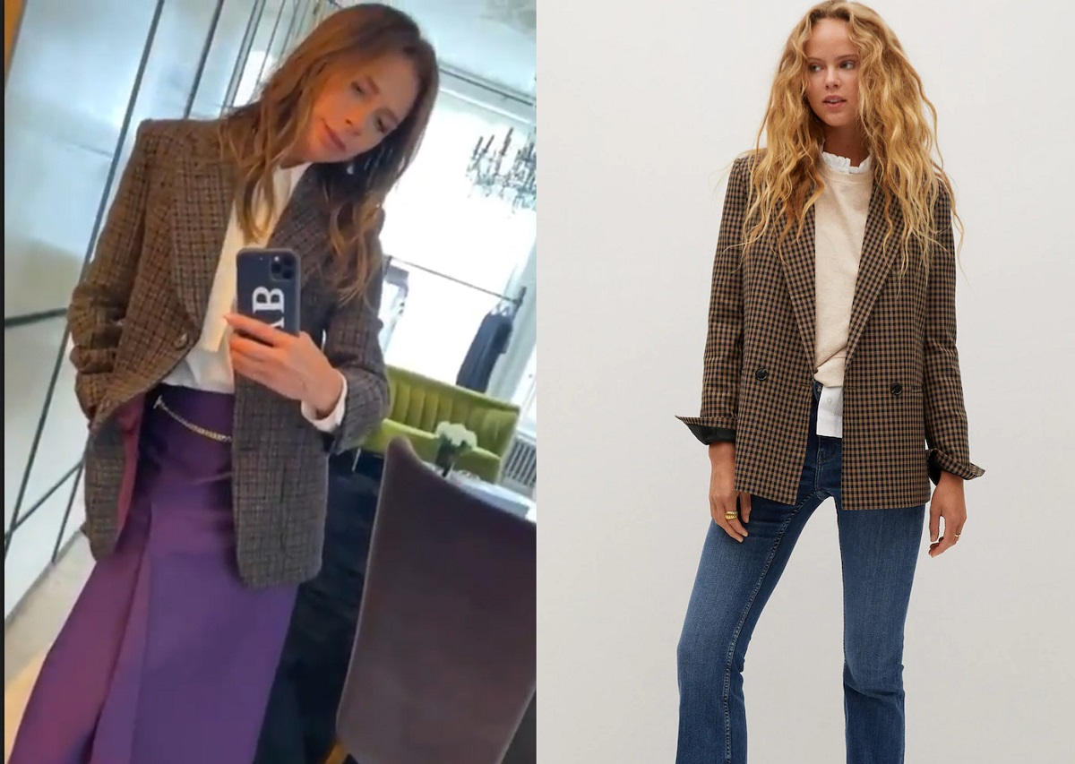Victoria Beckham, giacca in tweed