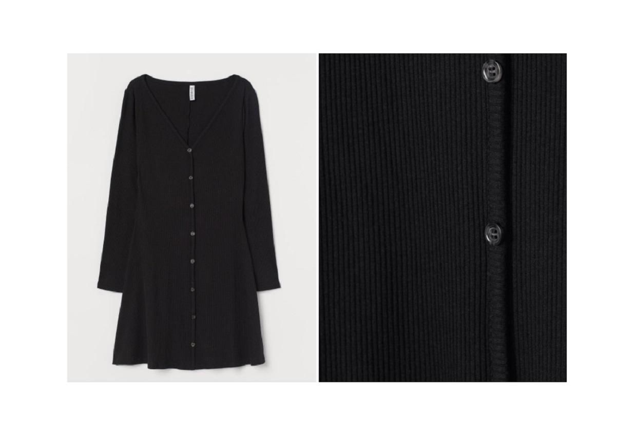 Il vestito corto H & M da 14,99 euro perfetto per l'autunno