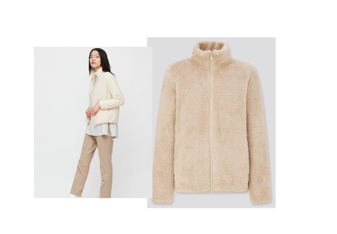 La giacca in pile Uniqlo a 24,9 euro da mettere nel carrello