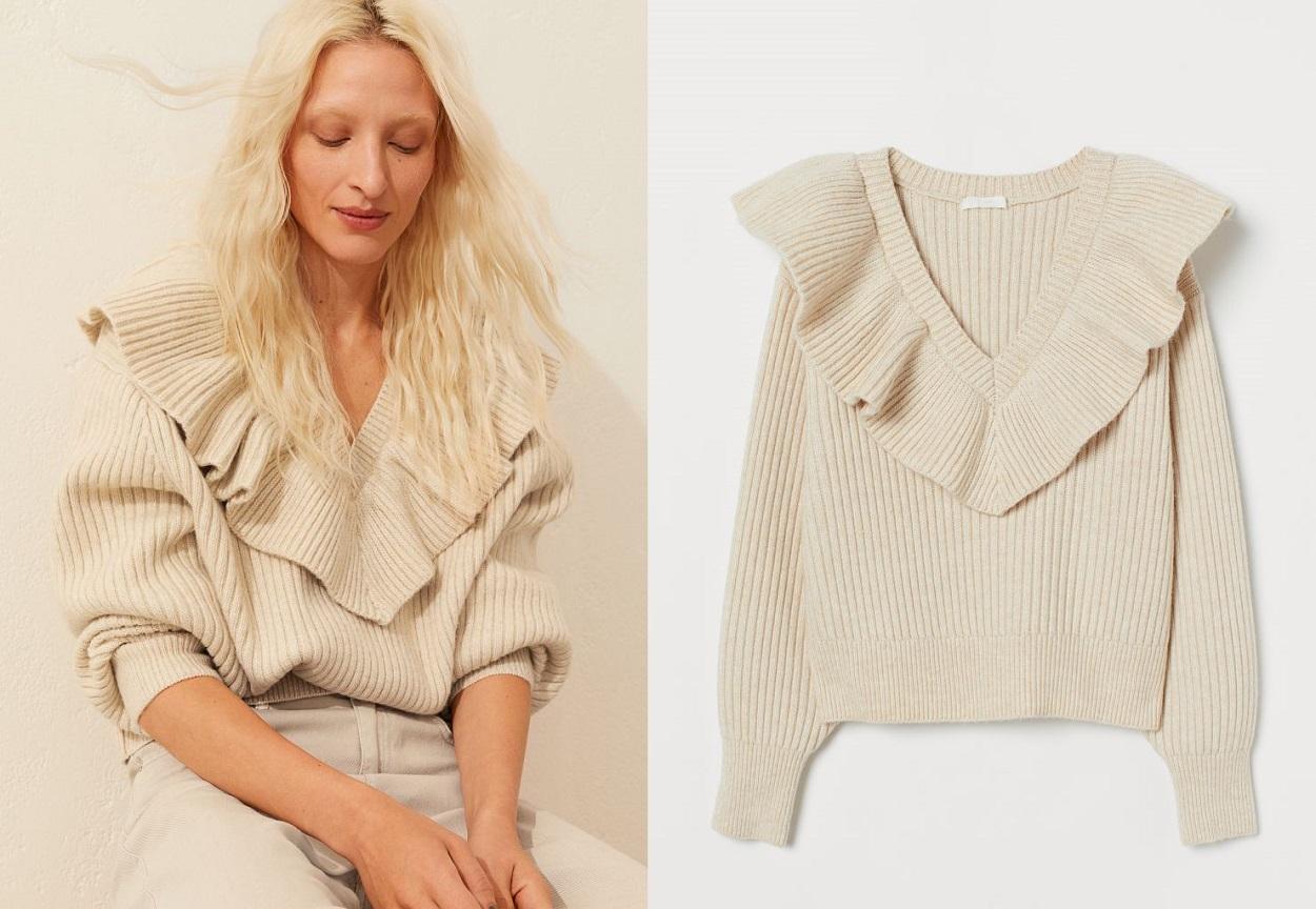 pullover H&M con volant