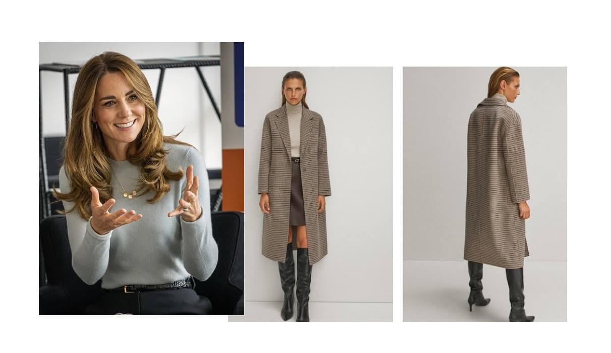 Kate Middleton, il cappotto da 249 euro firmato Massimo Dutti