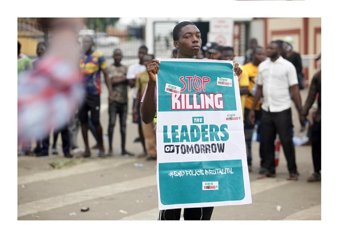 proteste contro la Sars in Nigeria