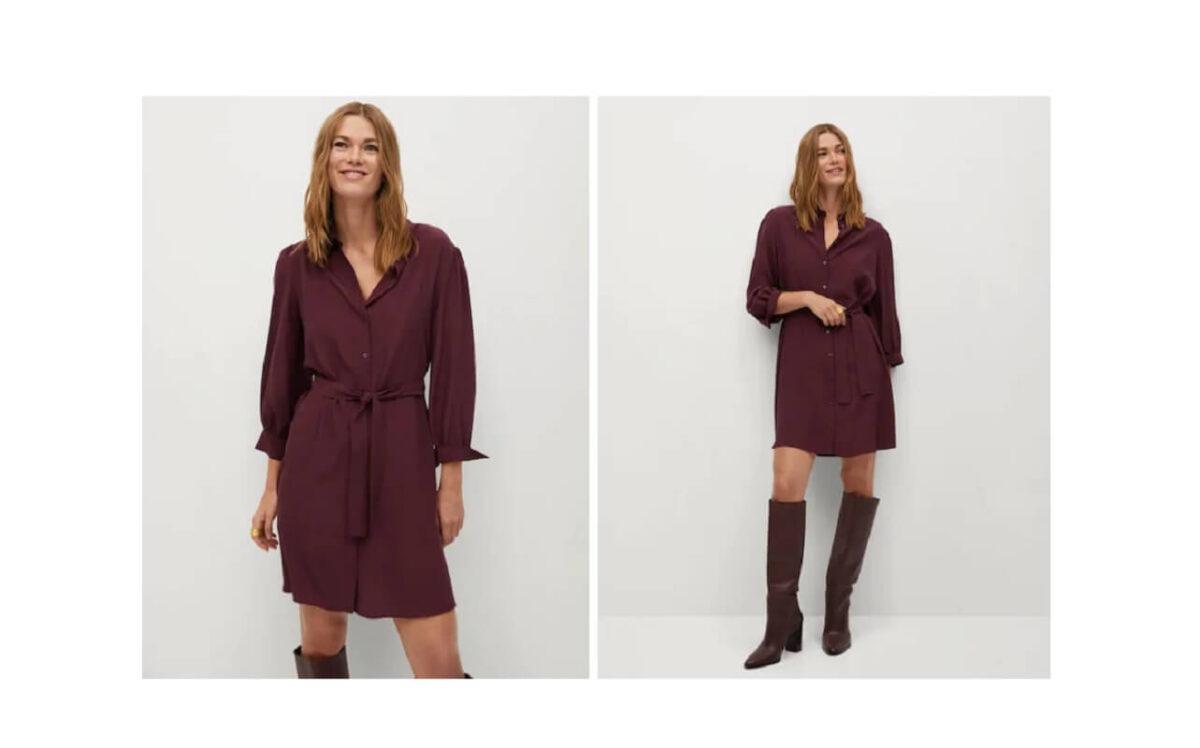 Il vestito camicia Mango a 39,99 euro da mettere nel carrello