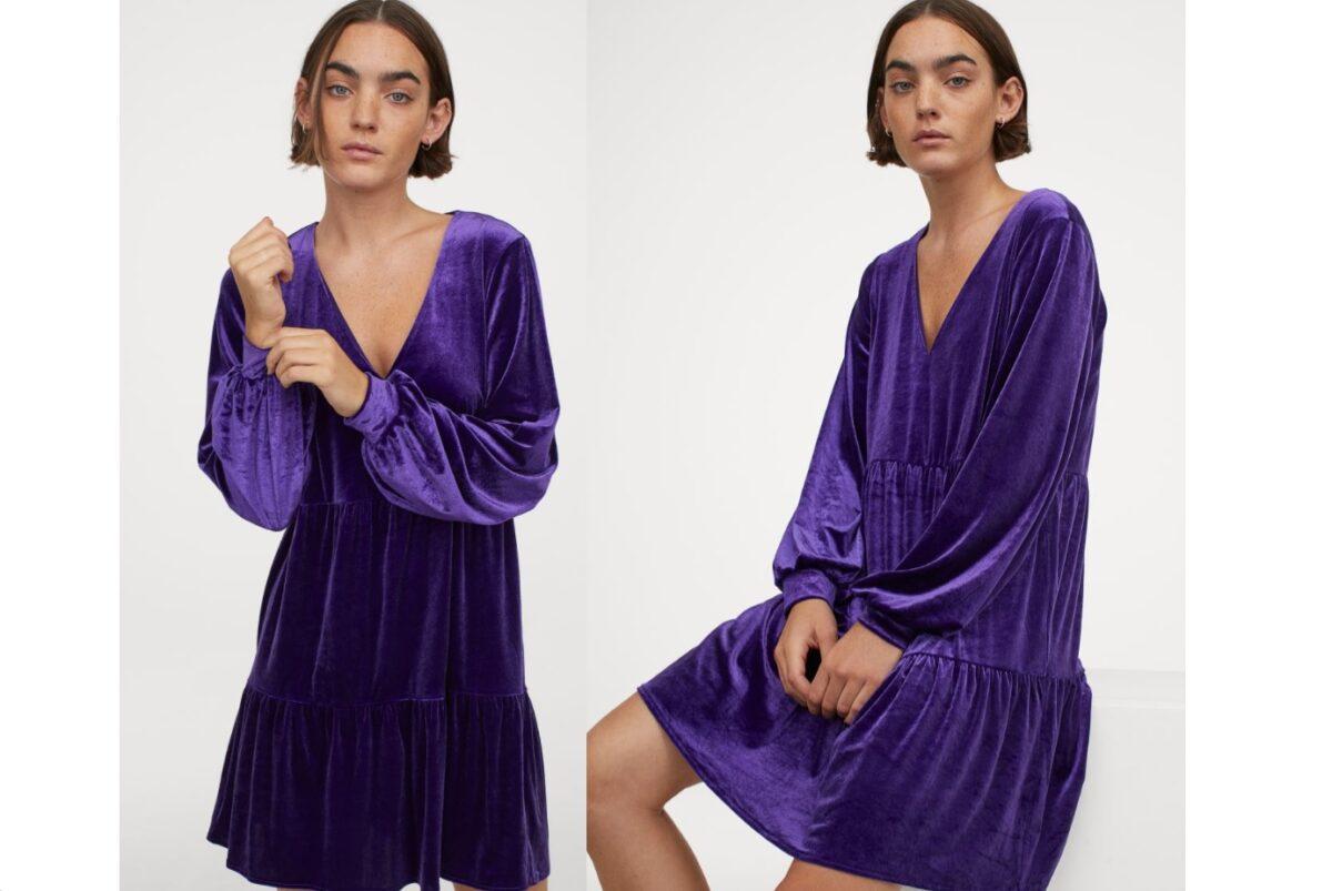 vestito velluto H&M