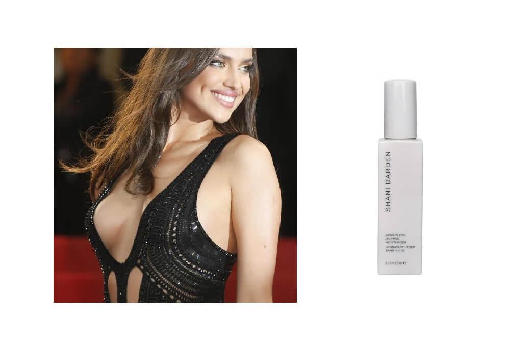 Irina Shayk usa questa crema idratante per pelli grasse