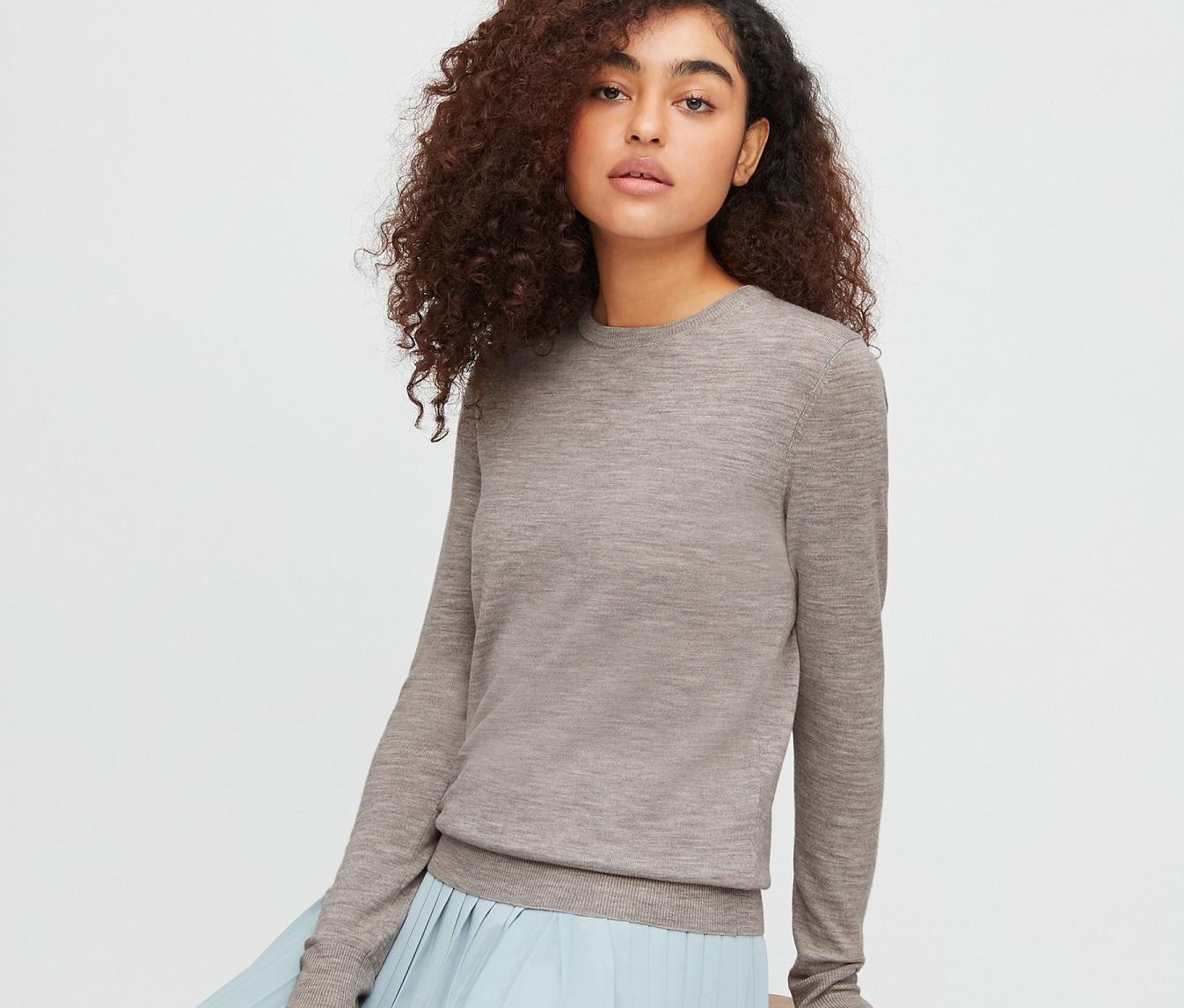 maglione in lana merino di Uniqlo