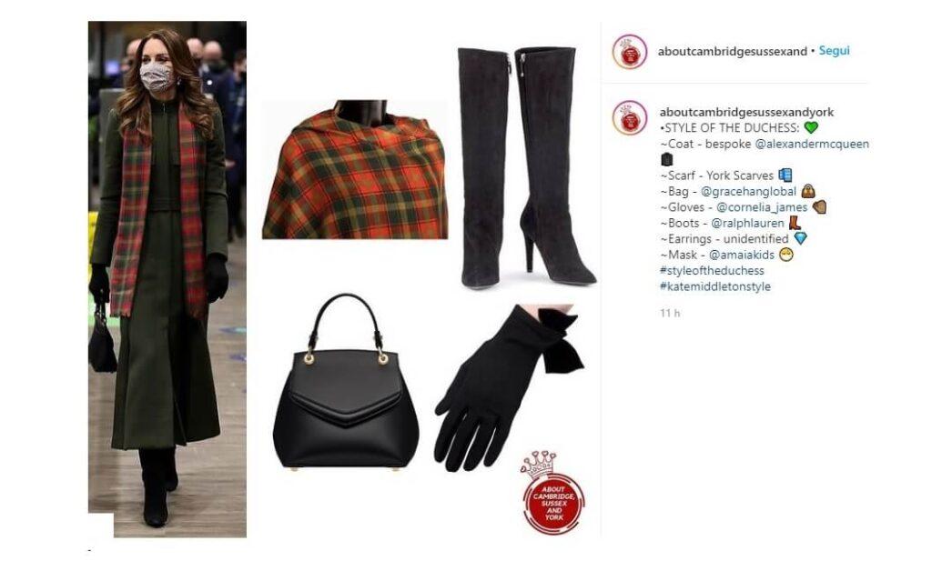 Kate Middleton indossa il cappotto kaki Alexander McQueen per il Royal Train Tour