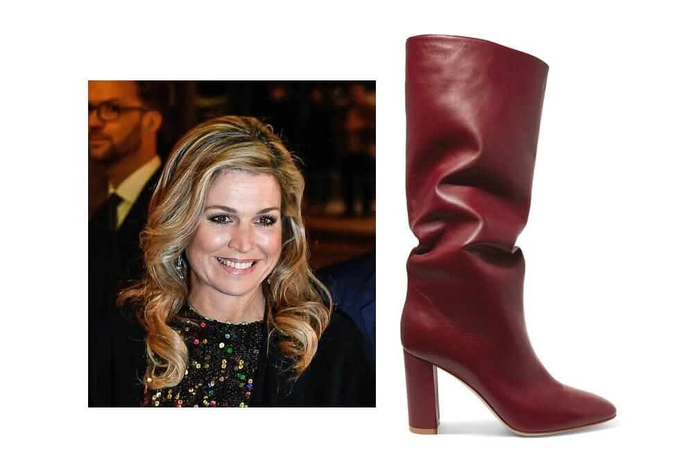 Maxima d'Olanda adora questi stivali rossi di Gianvito Rossi