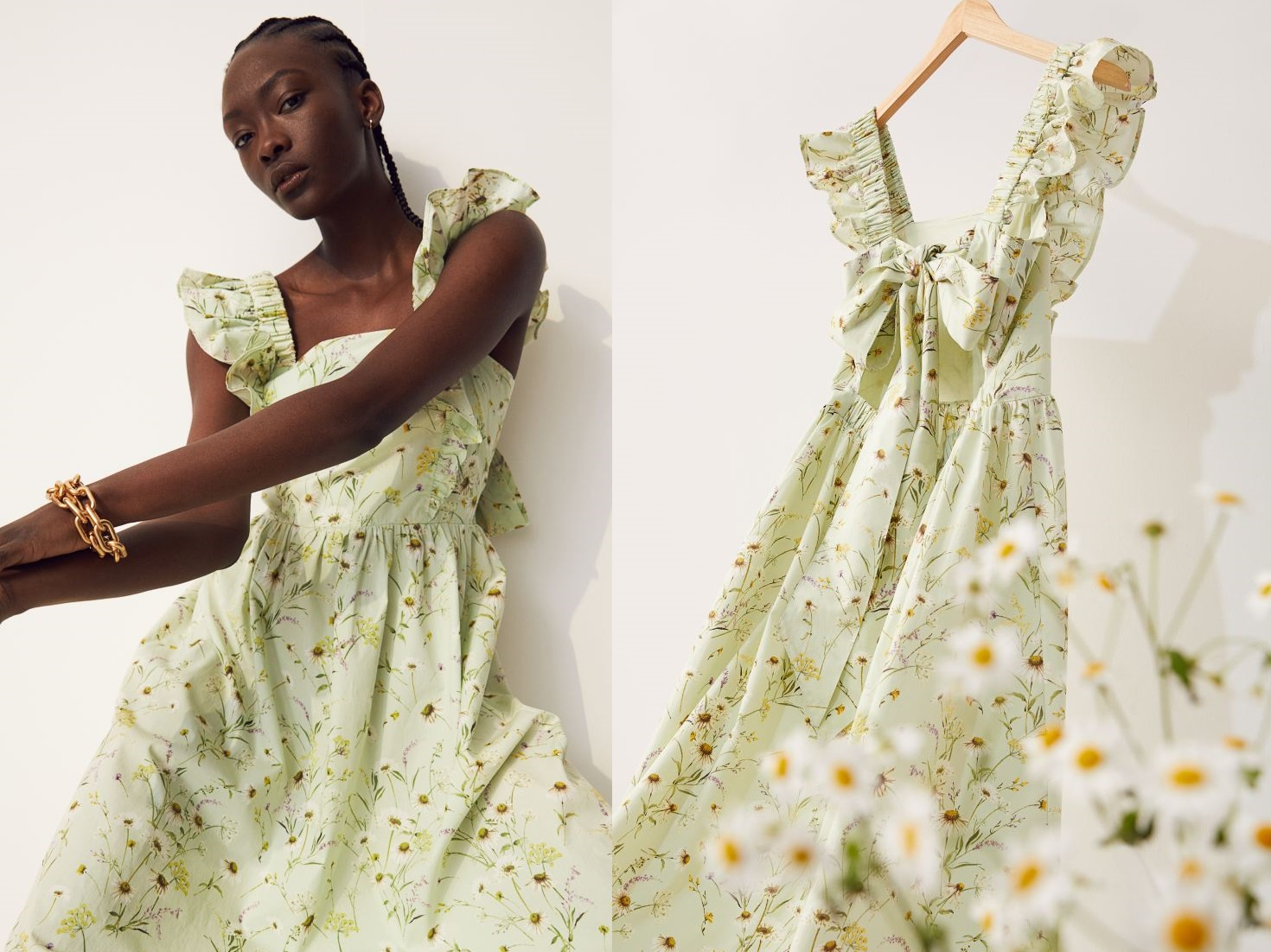 abito a fiori di H&M