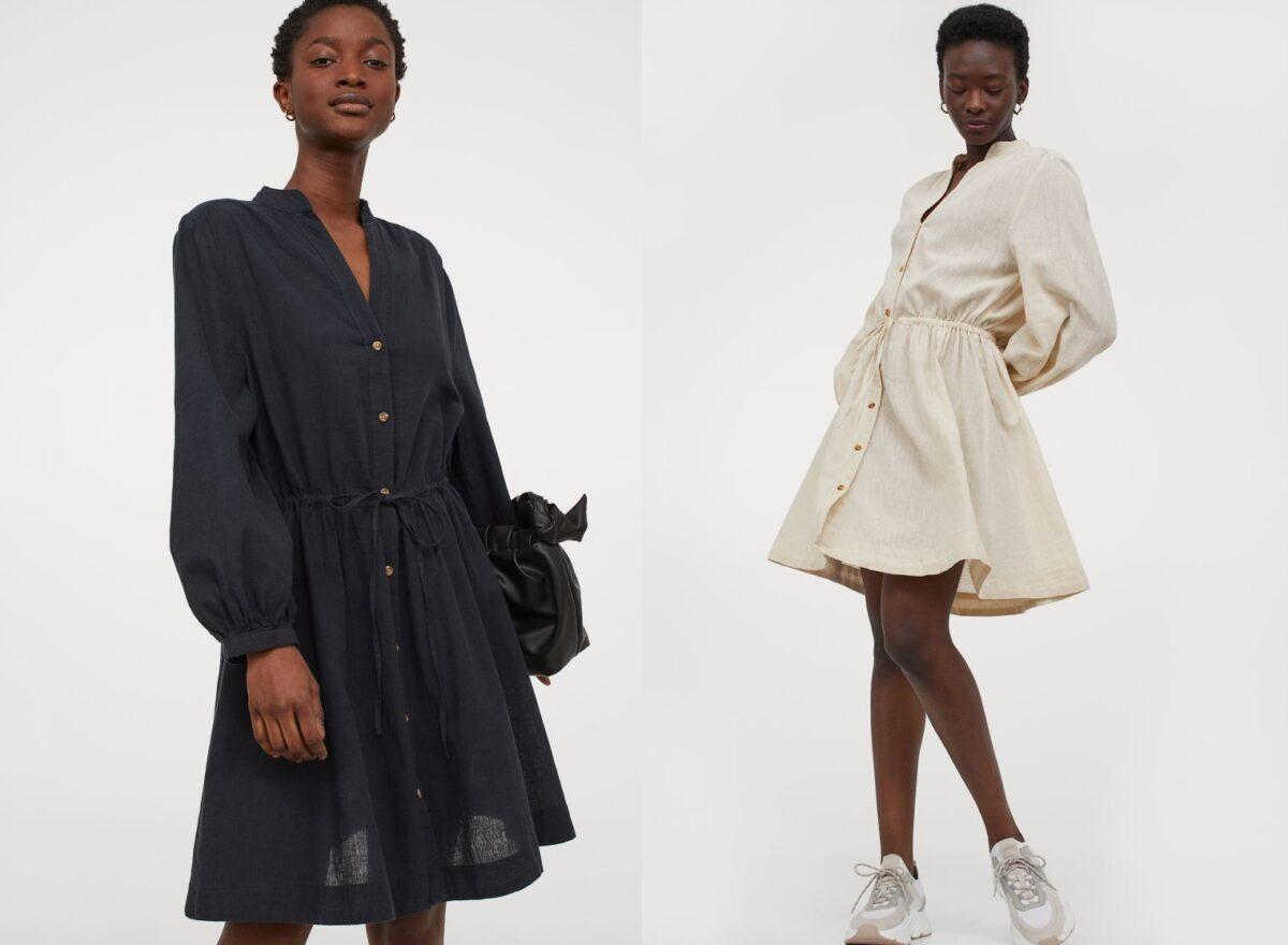 H&M abito in misto lino