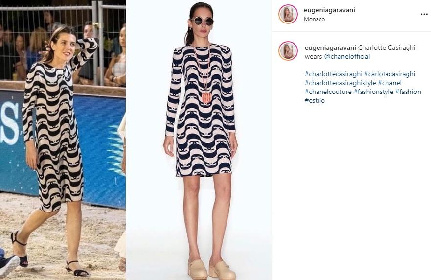 Charlotte Casiraghi sfoggia l'abito Chanel più difficile dell'estate