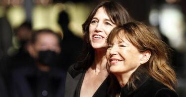 Jane Birkin con la figlia Charlotte Gainsbourg