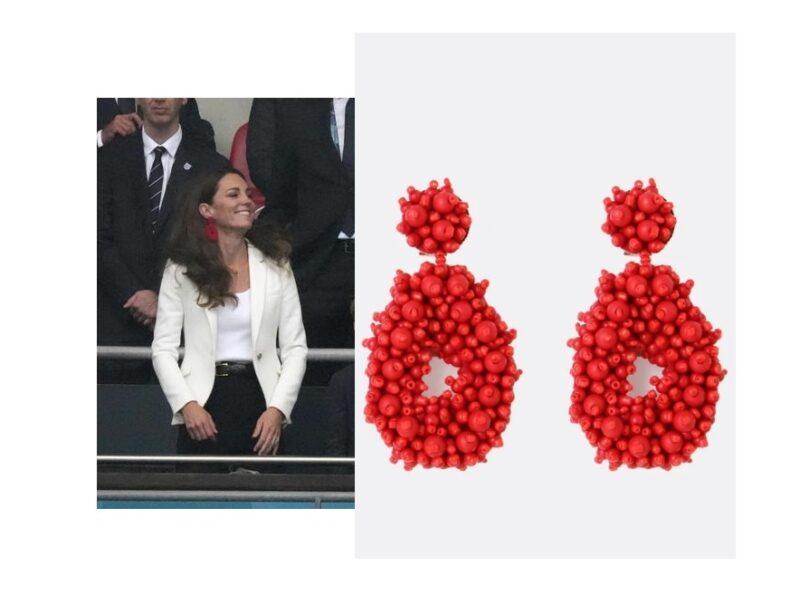 Gli orecchini di Kate Middleton a Wembley celebrano lo stile londinese