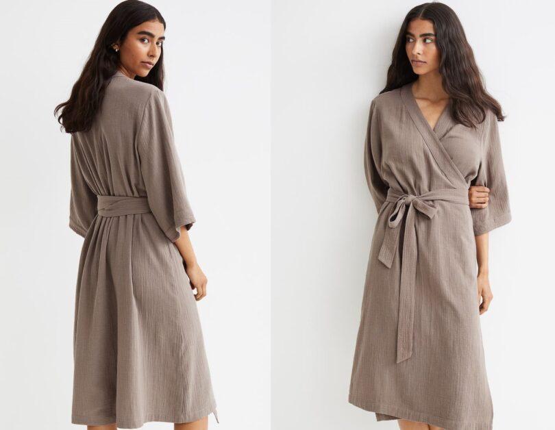 abito incrociato in cotone di H&M