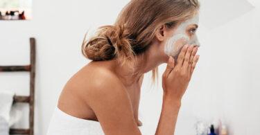 scrub beauty routine