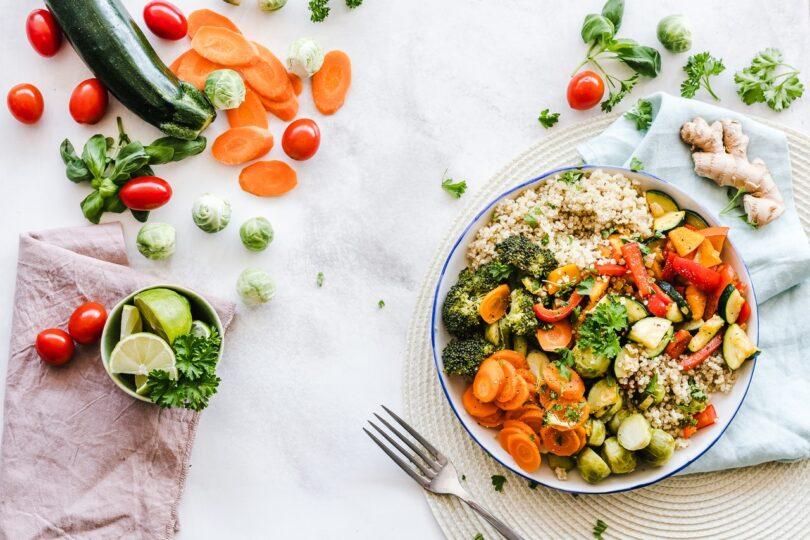 piatto di dieta mediterranea